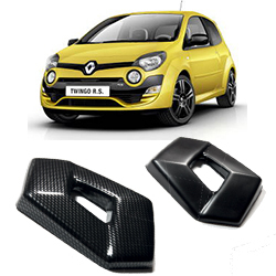 Twingo II Black/Carbon effect badge covers