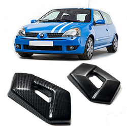 Clio 172/182 Black/Carbon effect badge covers